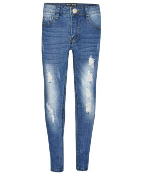Kids Boys Skinny Jeans Designer's Denim Ripped Stretchy Pants