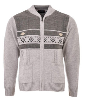 Mens Knitted Cardigan Full Front Zip
