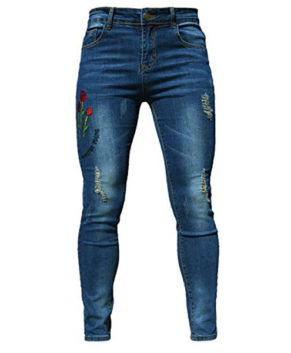 PHOENISING Women's Sexy Ripped Hole Jeans