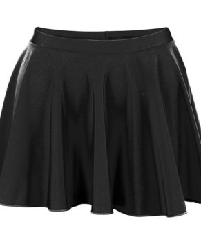Papaval Kids Girls Nylon Lycra Plain Flared Circular Skirt Size 2-14
