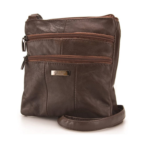 Ladies Small Genuine Soft Leather Cross Body Shoulder Bag