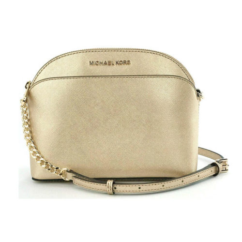 Michael Kors Emmy Leather Chain Cross Body Bag Small Handbag