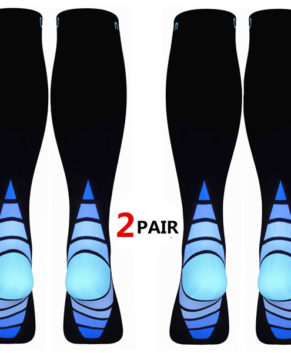 (2 Pairs)Compression Socks / Stockings for Men & Women