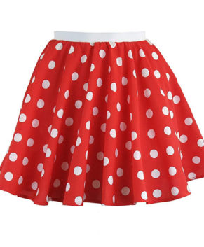 Girls Rock n Roll Polka Dot Skirt 50's / 60's Style Fancy Dress