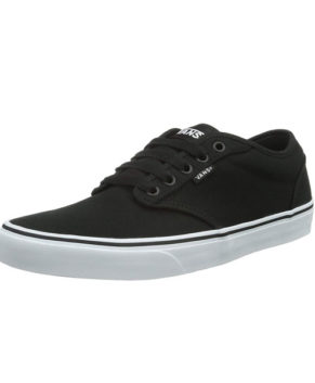 Men's Atwood Canvas Black Skateboarding Shoes