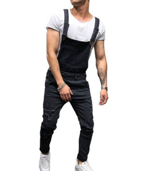 Mens Denim Trousers Bib Overalls Dungarees Jeans Jumpsuits