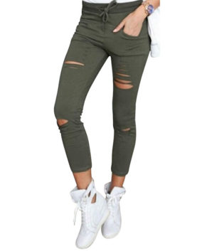 Womens Stretchy Ripped Slim Fit Skinny Jeggings Jeans