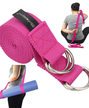 Yoga Strap for Stretching and Posing Doubles